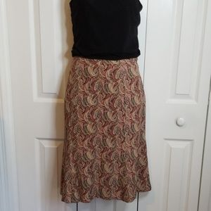 Vintage Talbots Silk Paisley Skirt Sz 10